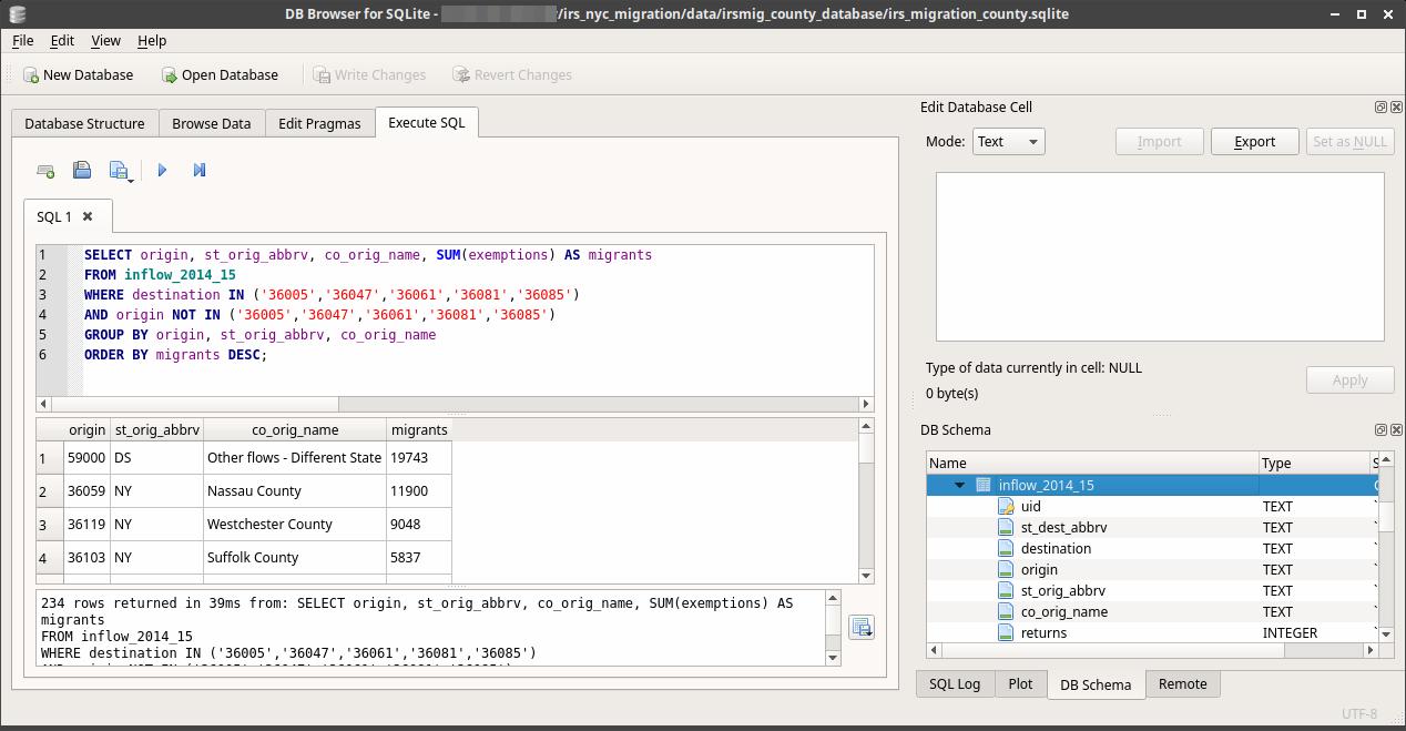 DB Browser for SQLite - SQL