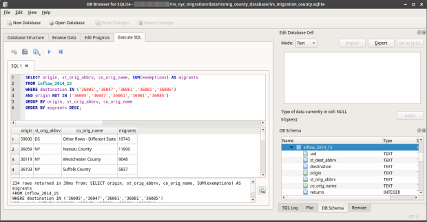 DB Browser for SQLite - SQL