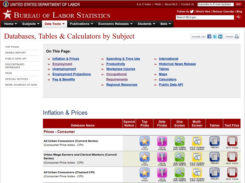 BLS Data Portal