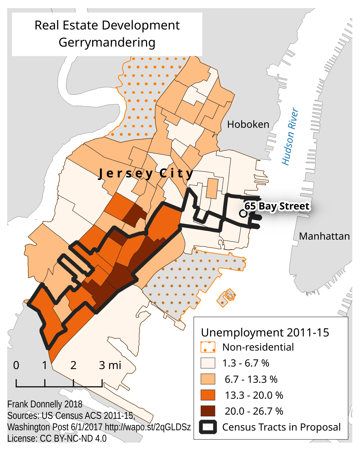Jersey City Real Estate Gerrymandering Map