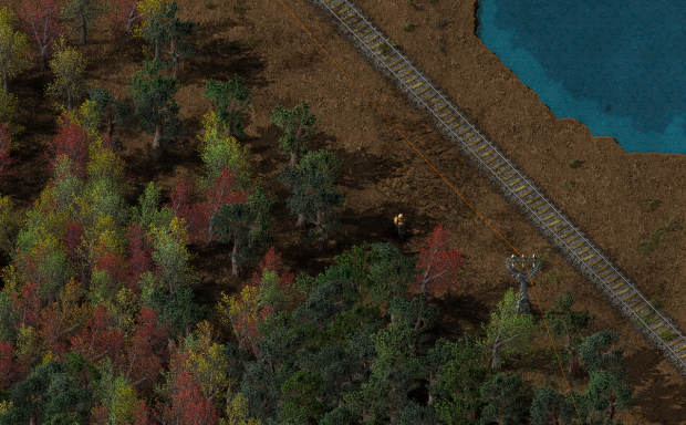 Factorio forest landscape