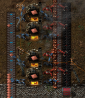 Factorio smelters