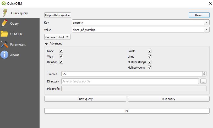 Quick OSM Interface