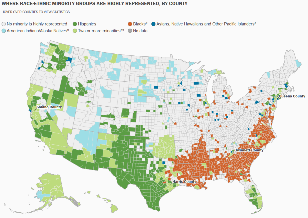 Map of US Racial and Ethnic Diversity