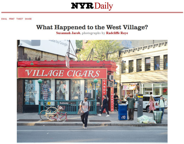 NYRB Article on the West Village