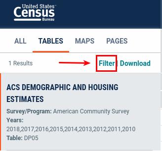 Filter Results Link