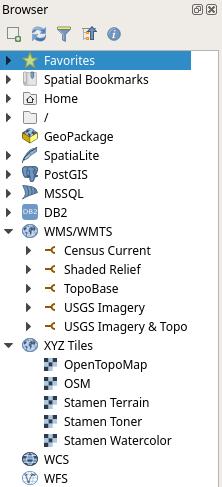QGIS Browser Panel