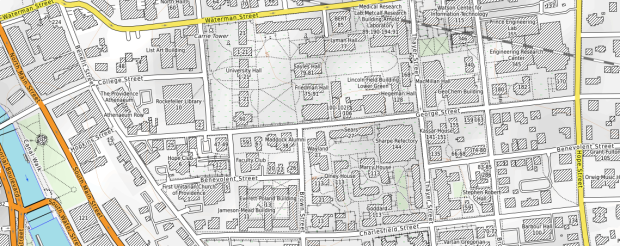 Brown University on OpenTopoMap